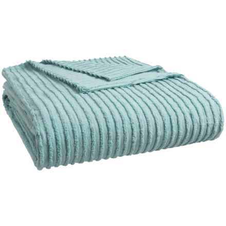 Beatrice Home Fashions Channel Chenille Bedspread - Full in Blue - Closeouts