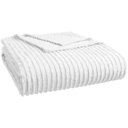 Beatrice Home Fashions Channel Chenille Bedspread - Twin in White - Closeouts