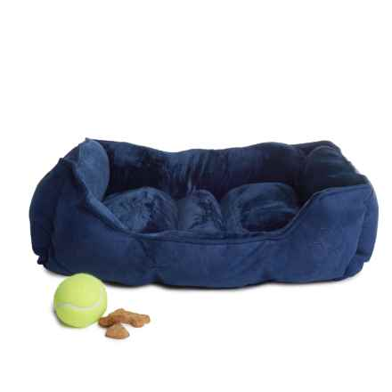 """Beatrice Home Fashions Cuddler Dog Bed - 18x28"""" in Navy/Blue - Closeouts"""