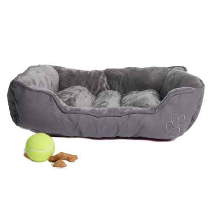 """Beatrice Home Fashions Cuddler Dog Bed - 24x18x6"""" in Gray/Gray - Closeouts"""