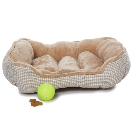 "Beatrice Home Fashions Forsyth Cuddler Dog Bed - 24x20"""