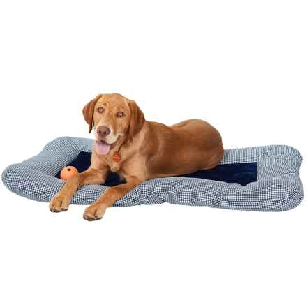 "Beatrice Home Fashions Forsyth Dog Crate Pad - Reversible, 28x42"" in Navy/Navy - Closeouts"