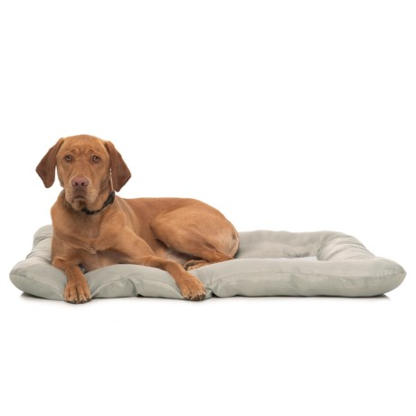 """Beatrice Home Fashions Gone Camping Cooling Gel Dog Crate Mat - 42x28"""" in Grey"""