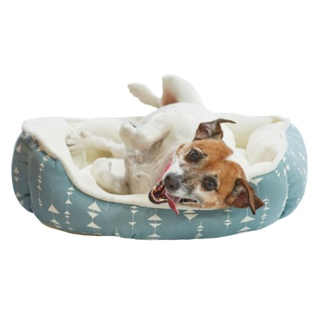"Beatrice Home Fashions Islington Cuddler Dog Bed - 24x20"" in Seafoam"