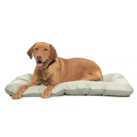 """Beatrice Home Fashions Marshmallow Dog Crate Mat - 42x28"""" in Grey"""