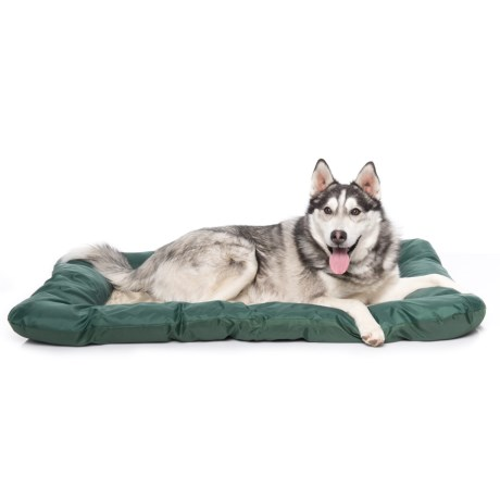 """Beatrice Home Fashions Paddle Board Cooling Gel Dog Crate Mat - 42x28"""" in Taupe/Green"""