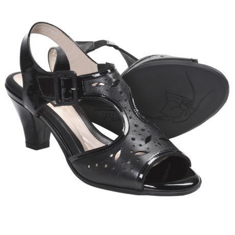 BeautiFeel Adele Sandals - Leather (For Women) in Black Combi