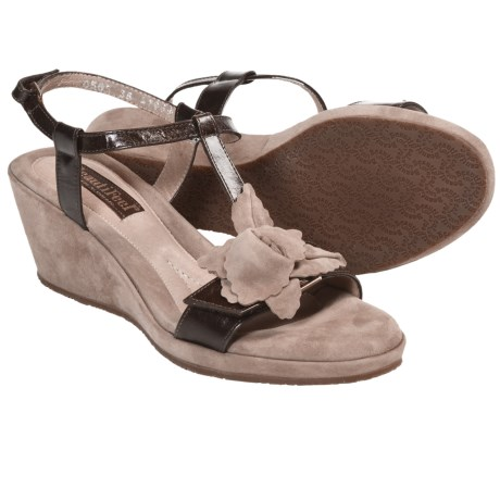 BeautiFeel Capri Sandals - Leather, Wedge Heel (For Women) in Brown