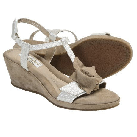 BeautiFeel Capri Sandals - Leather, Wedge Heel (For Women) in White