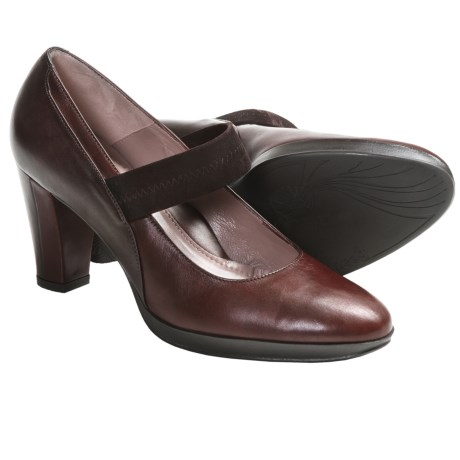 BeautiFeel Hasna Mary Jane Pumps - Leather (For Women) in Brown/Bordo