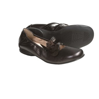 BeautiFeel Nika Leather Flats (For Women) in Dark Brown Spark Combi