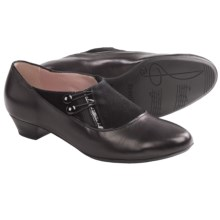BeautiFeel Sherlyn Retro Pumps (For Women) in Black Leather/Suede - Closeouts