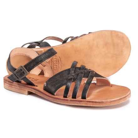 c17b560444a Bed Stu Senado Flat Sandals - Leather (For Women) in Black Handwash