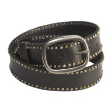Bed Stu Staple Belt - Leather, Studded (For Men) in Black - Closeouts