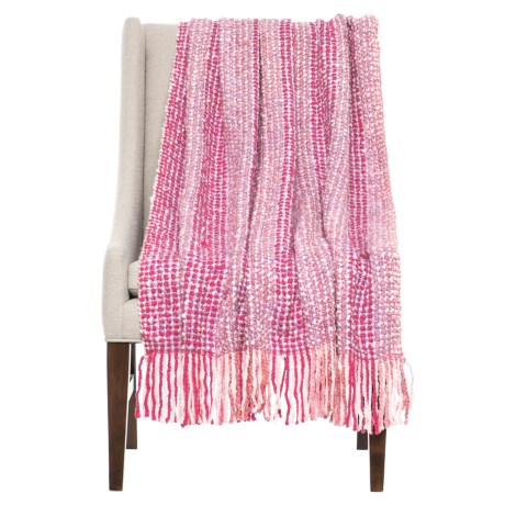 "Bedford Collection Greenwich Kennebunk Throw Blanket - 40x70"" in Rose"