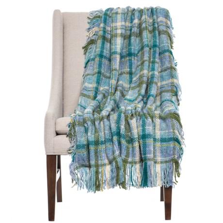 "Bedford Collection Sturbridge Lofty Throw Blanket - 45x70"" in Lagoon"