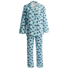 BedHead Brushed Flannel Pajamas - Long Sleeve (For Women) in Topaz Bird - Closeouts