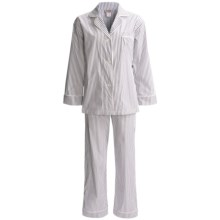 Bedhead Egyptian Cotton Pajamas - Long Sleeve (For Women) in Grey Stripe - Closeouts