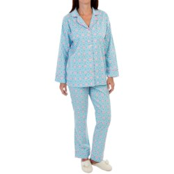 BedHead Flannel Pajamas - Cotton, Long Sleeve (For Women) in Onesies/Things Pastel