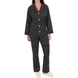 BedHead Flannel Pajamas - Cotton, Long Sleeve (For Women) in Remix Pepper