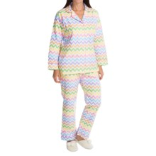 BedHead Flannel Pajamas - Cotton, Long Sleeve (For Women) in Remix Sweet - Closeouts