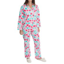 BedHead Flannel Pajamas - Cotton, Long Sleeve (For Women) in Urban Flotologie Sorbet - Closeouts