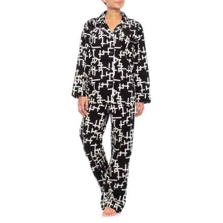 BedHead Flannel Pajamas - Long Sleeve (For Women) in 3480B Word Play - Closeouts