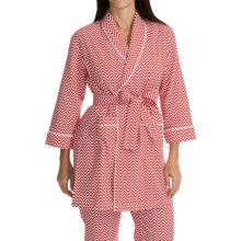 Bedhead Flannel Wrap Robe - Long Sleeve (For Women) in Remix Cherry - Closeouts