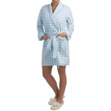 Bedhead Flannel Wrap Robe - Long Sleeve (For Women) in Remix Cloud - Closeouts