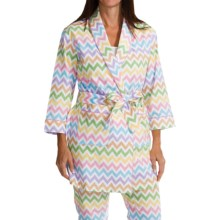 Bedhead Flannel Wrap Robe - Long Sleeve (For Women) in Remix Sweet - Closeouts