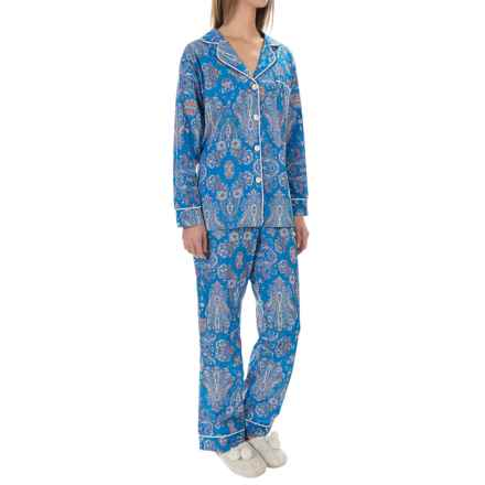 BedHead Lightweight Cotton Voile Pajamas - Long Sleeve (For Women) in Blue Park Paisley - Overstock