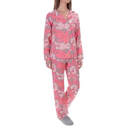 BedHead Lightweight Cotton Voile Pajamas - Long Sleeve (For Women) in Coral Viceroy - Overstock