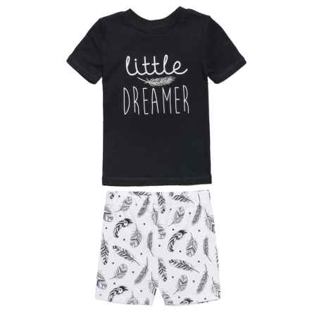 BedHead Little Dreamer Pajamas - Short Sleeve (For Kids) in Black/White - Closeouts