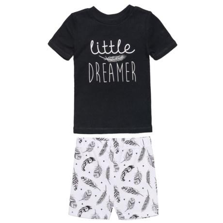 BedHead Little Dreamer Pajamas - Short Sleeve (For Kids) in Black/White
