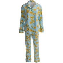 Bedhead Patterned Cotton Knit Pajamas - Long Sleeve (For Women) in Amber Rose - Closeouts