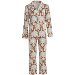 Bedhead Patterned Cotton Knit Pajamas - Long Sleeve (For Women) in Amber Rose