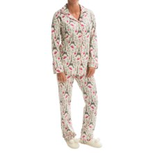 Bedhead Patterned Cotton Knit Pajamas - Long Sleeve (For Women) in Hello Kitty Eiffel - Closeouts