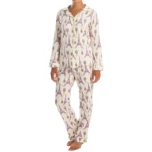 Bedhead Patterned Cotton Knit Pajamas - Long Sleeve (For Women) in Lavender Eiffel - Closeouts
