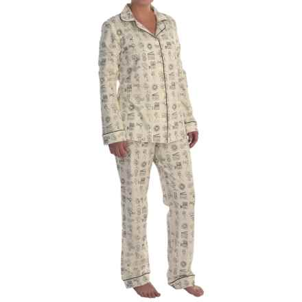 Bedhead Patterned Cotton Knit Pajamas - Long Sleeve (For Women) in Lights Camera Action! - Closeouts