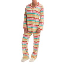 Bedhead Patterned Cotton Knit Pajamas - Long Sleeve (For Women) in Multi Twister - Closeouts