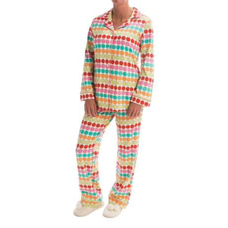 Bedhead Patterned Cotton Knit Pajamas - Long Sleeve (For Women) in Multi Twister