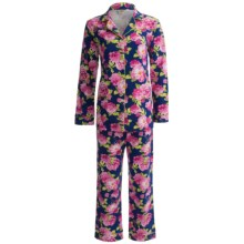 Bedhead Patterned Cotton Knit Pajamas - Long Sleeve (For Women) in Navy Rose - Closeouts