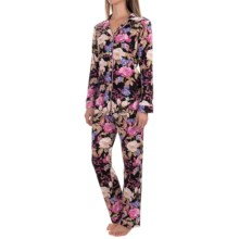 Bedhead Patterned Cotton Knit Pajamas - Long Sleeve (For Women) in Noir Closet Romantic - Closeouts