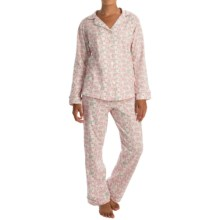 Bedhead Patterned Cotton Knit Pajamas - Long Sleeve (For Women) in Pink Elephants - Closeouts