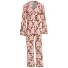 Bedhead Patterned Cotton Knit Pajamas - Long Sleeve (For Women) in Pink Louis Xiv - Closeouts