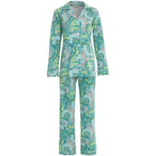Bedhead Patterned Cotton Knit Pajamas - Long Sleeve (For Women) in Pool Palm Springs Paisley - Closeouts