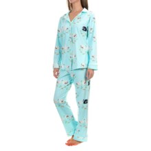 Bedhead Patterned Cotton Knit Pajamas - Long Sleeve (For Women) in Swan Lake - Closeouts