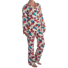 Bedhead Patterned Cotton Knit Pajamas - Long Sleeve (For Women) in Tropical Blooms - Closeouts