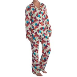 Bedhead Patterned Cotton Knit Pajamas - Long Sleeve (For Women) in Tropical Blooms