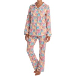 Bedhead Patterned Cotton Knit Pajamas - Long Sleeve (For Women) in Ultiwonders Of The World